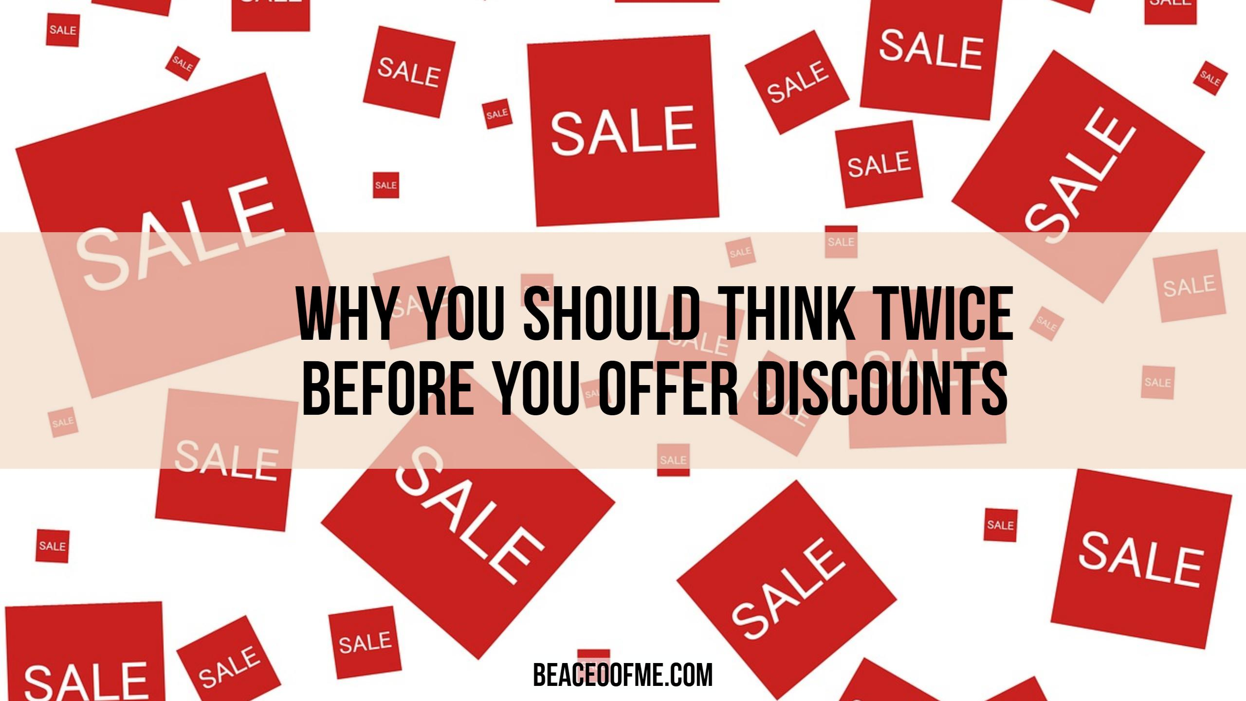 Why you should think twice before you offer discounts for your direct sales business