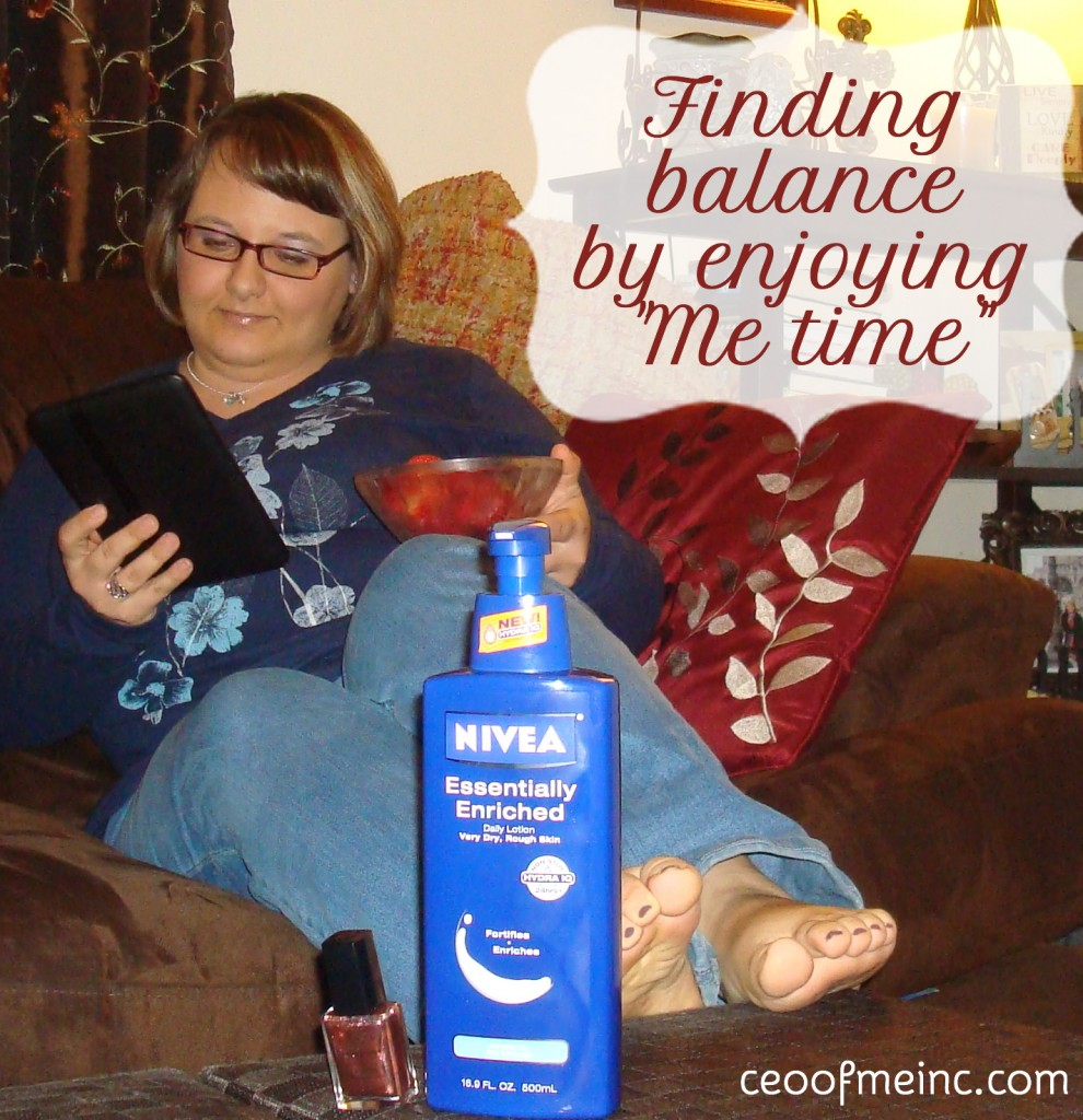 Finding Balance by enjoying some me time with NIVEA lotion #NIVEAmoments