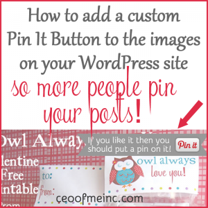 How to add a custom Pin It Button to your images on WordPress