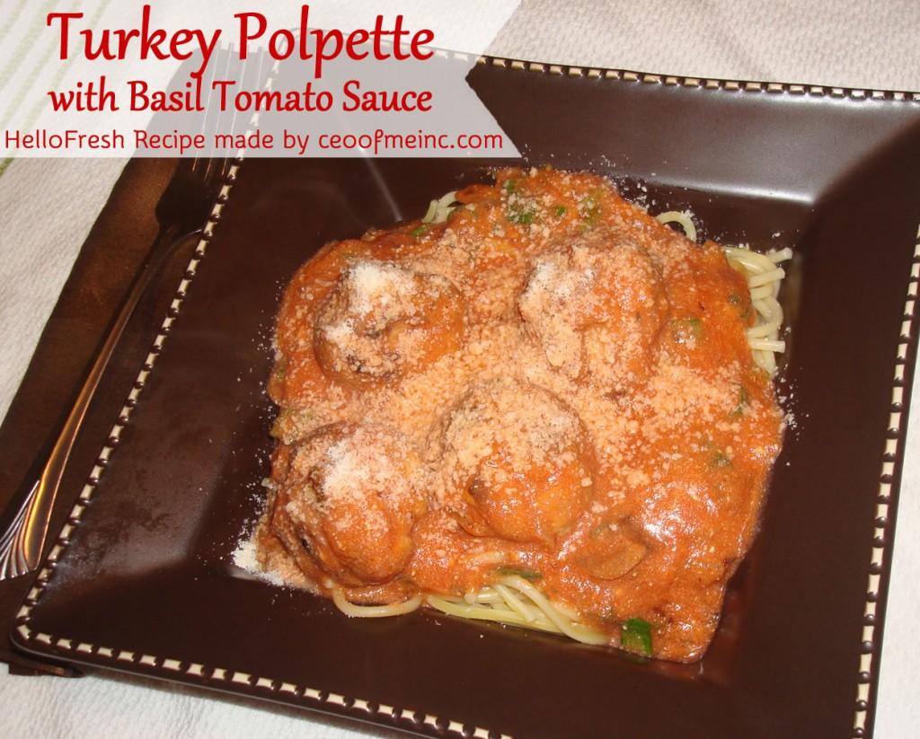 HelloFresh Turkey Polpette Recipe