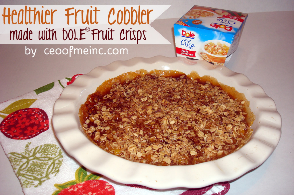 DOLE Fruit Crisps Healthier Cobbler Recipe