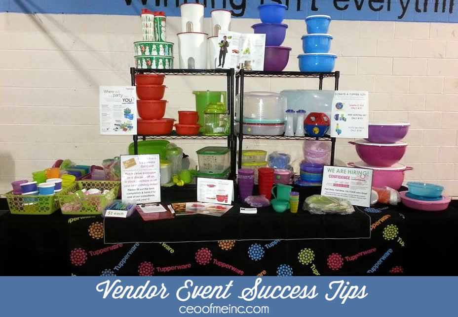 Vendor Event Success Tips for Direct Sales Party Plan and Networking Marketing Reps