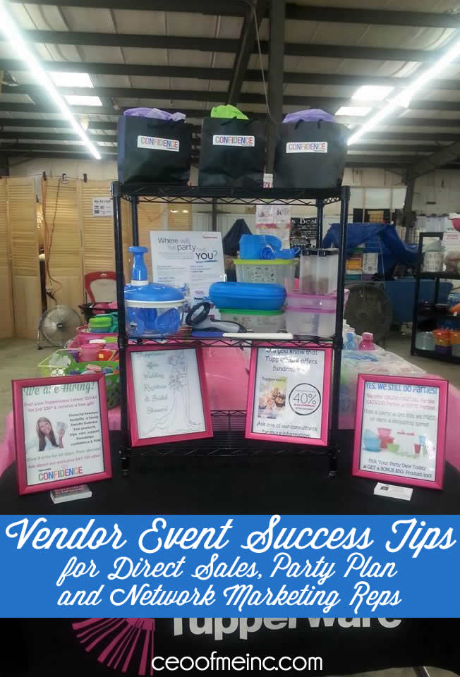 Vendor Event Success Tips For Direct Sales Home Party Plan And Network Marketing Consultants