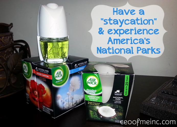 Have a staycation with Air Wicks National Park Collection