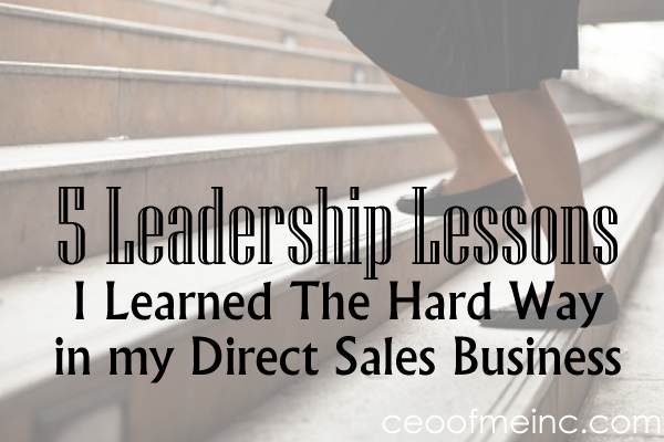 5 Direct Sales Leadership Lessons