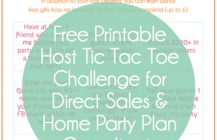 Host Coaching Tips and a Free Printable Host Tic Tac Toe Challenge from CEO of Me