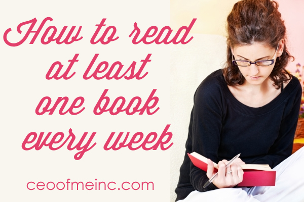 how to read at least one book every week
