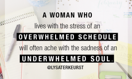 the best yes overwhelmed schedule