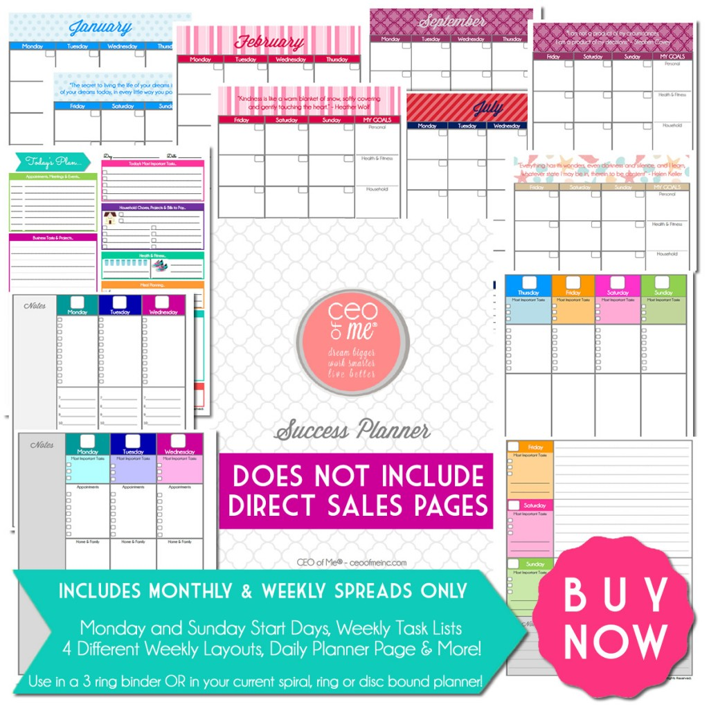 check out my Printable Planner & my Success Planner for Direct Sales ...