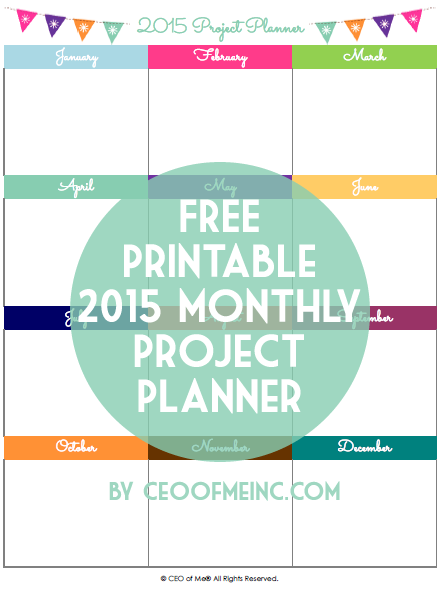 Free Printable Monthly Project Planner from CEO of Me®