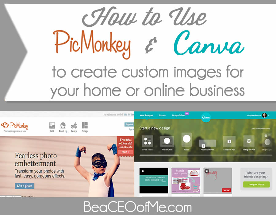 How to use picmonkey and canva to create custom images for Build a custom home online
