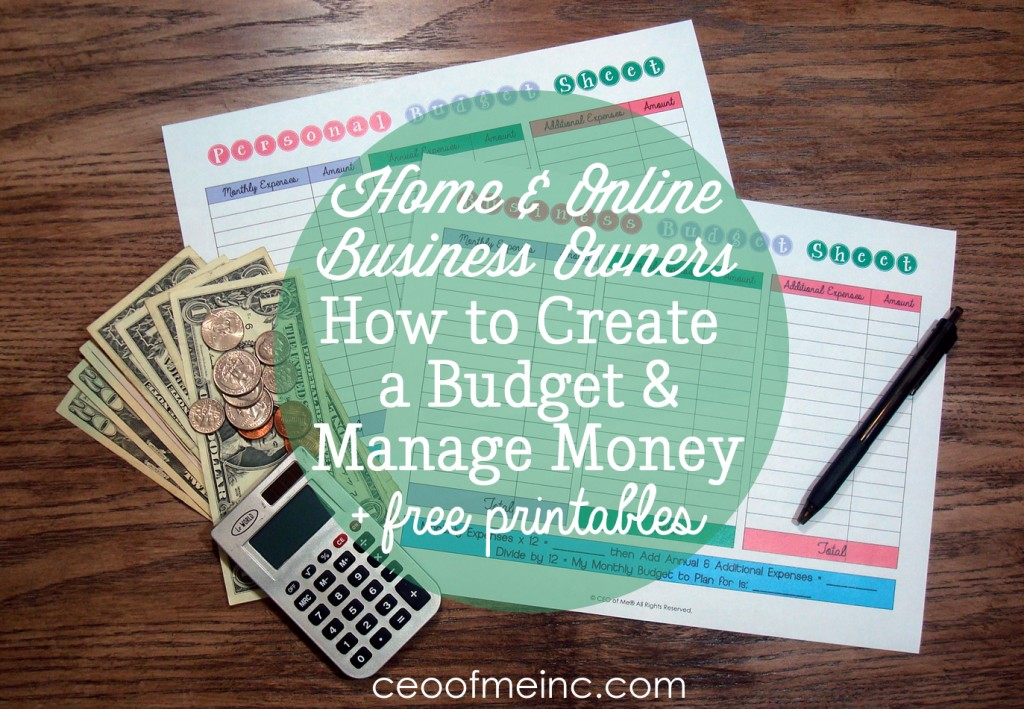 Free Printable Personal and Business Budget Sheets for Home and Online Business Owners