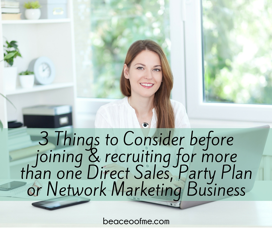 3 things to consider before joining another direct sales company