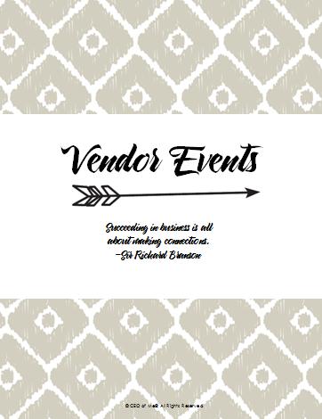 Section 6 - Vendor events
