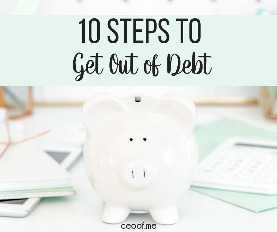 10 Steps to Pay off Debt, Shift Your Money Mindset and Live Debt Free