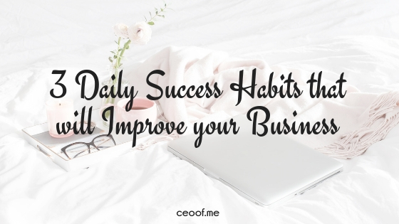 3 Daily Success Habits that will Improve your Business
