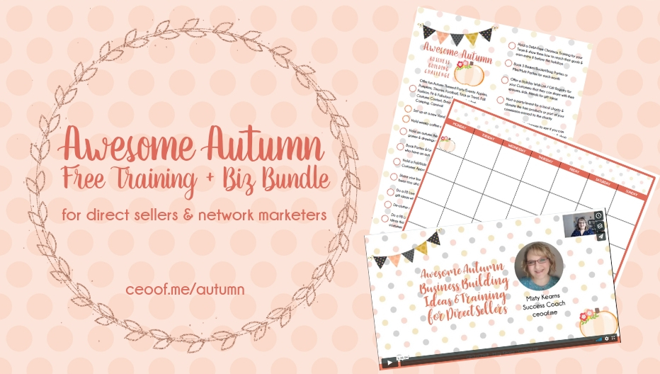 Free Autumn Fall Training Business Printables for Direct Sales Network Marketing
