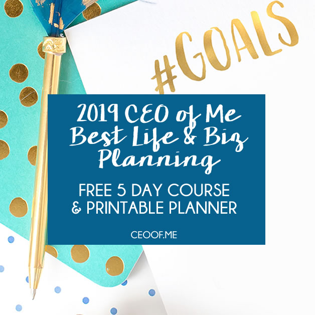 2019 CEO of Me Best Life and Biz Planning Course and Workbook