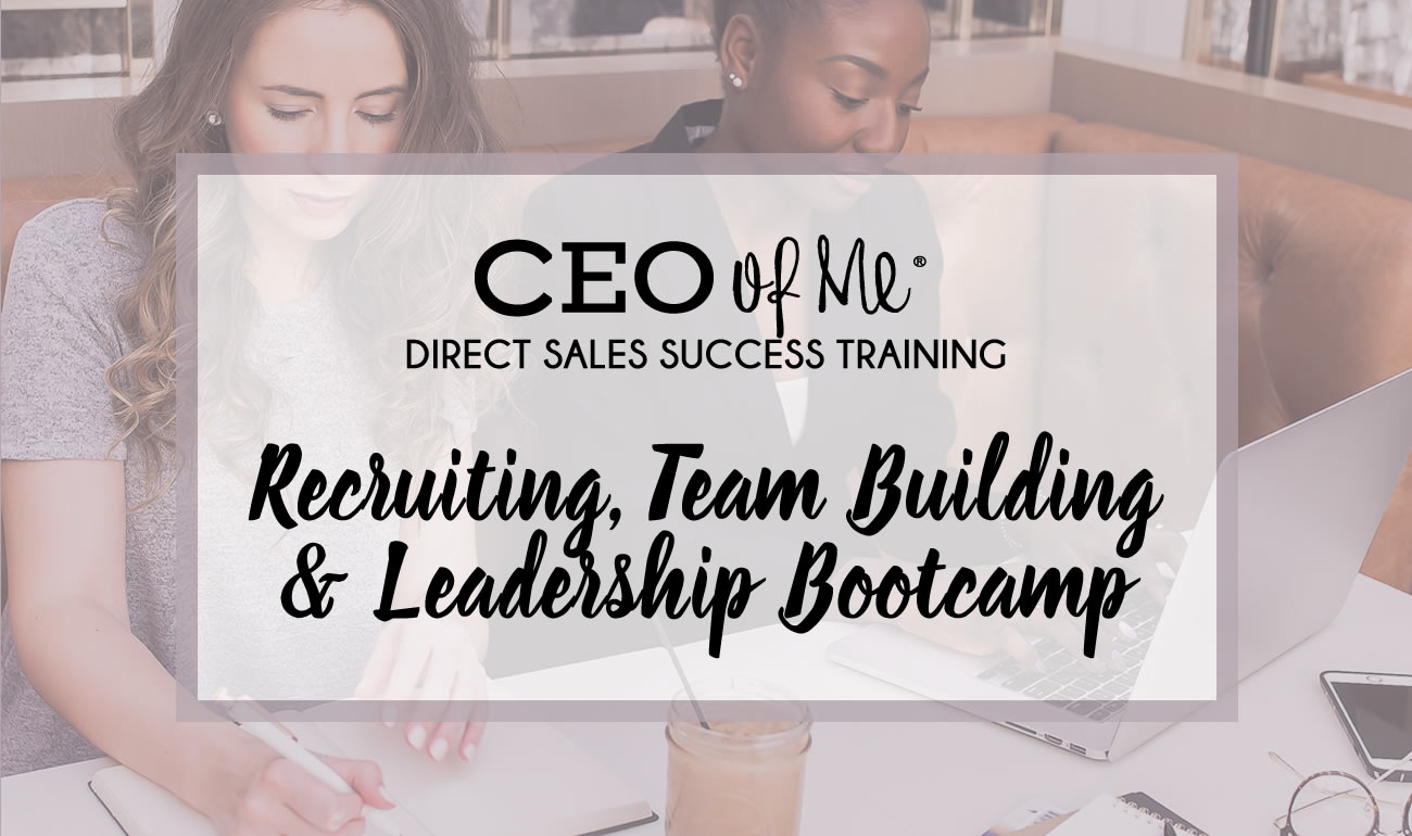 ceo of me direct sales recruiting team building leadership bootcamp