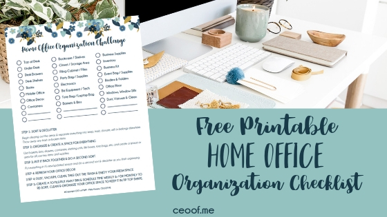 Free Printable Home Office Organization Checklist