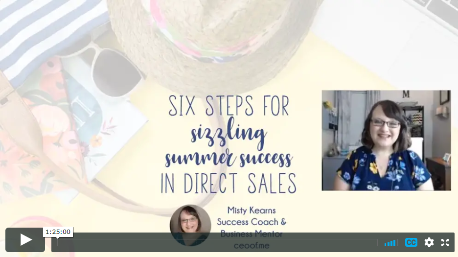 six steps for sizzilng summer success training for direct sales