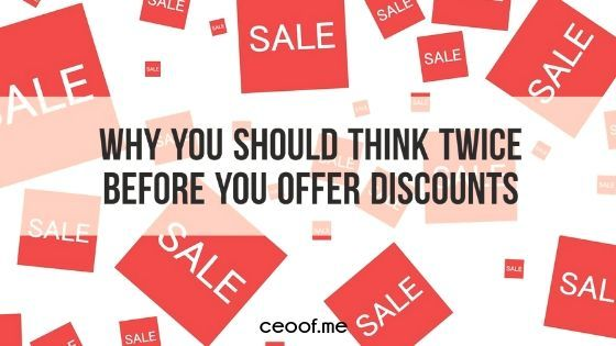 why you should think twice before you offer discounts for your direct sales products