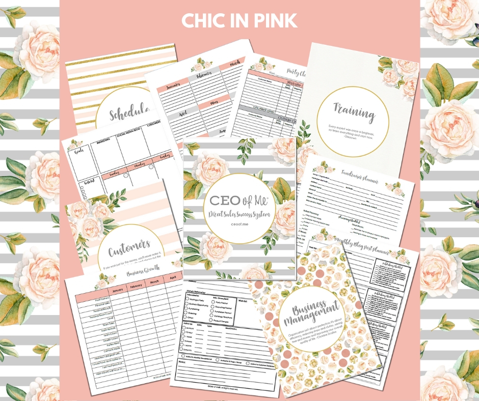 Chic in Pink Direct Sales Success System Toolkit CEO of Me