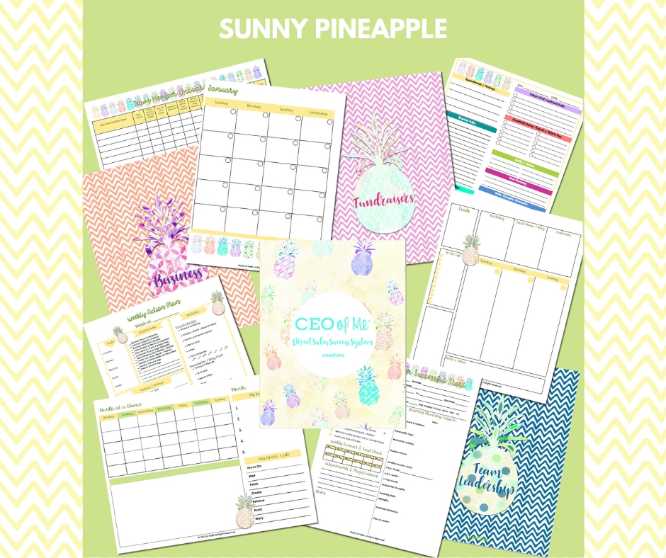 Sunny Pineapple Direct Sales Success System Toolkit CEO of Me