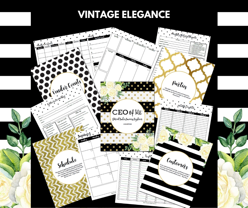 Vintage Elegance Direct Sales Success System Toolkit CEO of Me