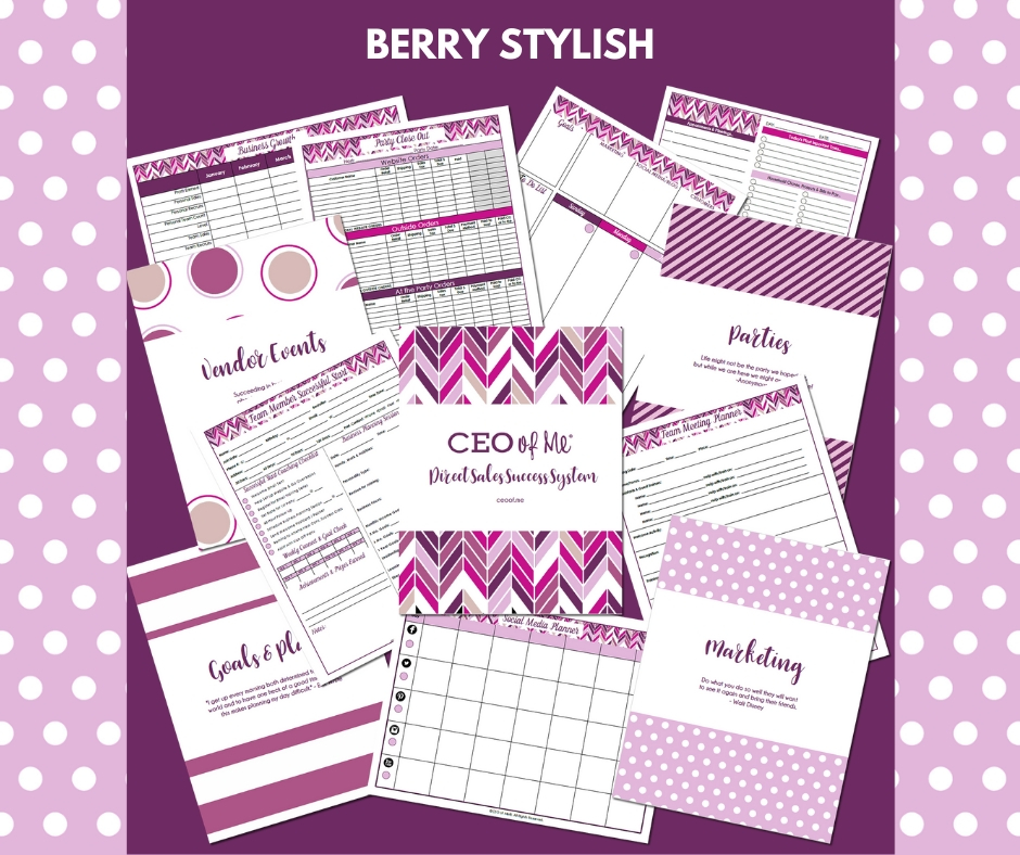 Berry Stylish Direct Sales Success System Toolkit CEO of Me