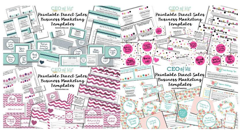 Direct Sales Printable Marketing Templates