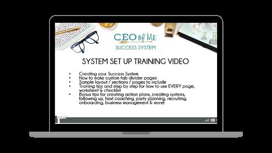 System Set Up Training Video
