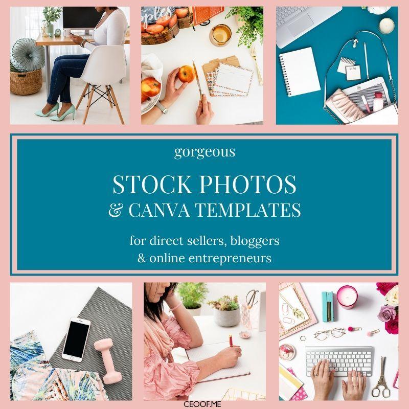 Stock Photos, Canva Templates, Social Media Content for Entrepreneurs